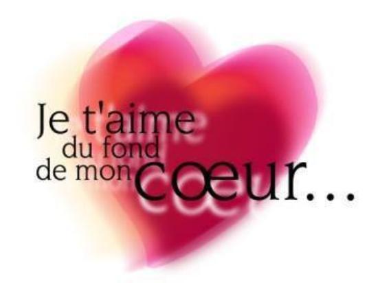 Merci a toi mon ti coeur d 39 amour bobolebagnard pour ce beau cadeau je t 39 aime d 39 un amour infini - Un gros coeur d amour ...
