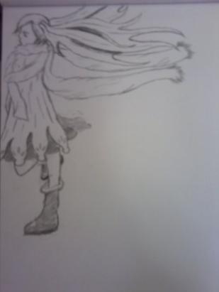 enfant dans le vent de l'hiver