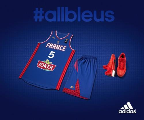 Adidas dévoile les nouveaux maillots de l'Equipe de France de Basket