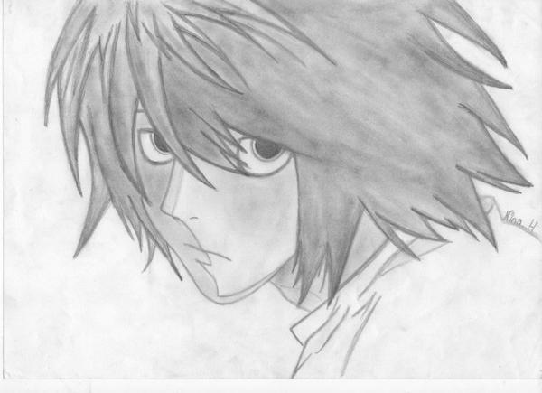 L Death Note,DESSIN DE NINA
