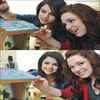 Selena gomez & Jennifer stone faisant des petite maison pour Disney