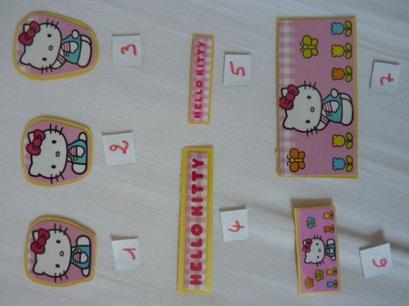 Mini figrines Hello Kitty / Autocollants HK / Badge