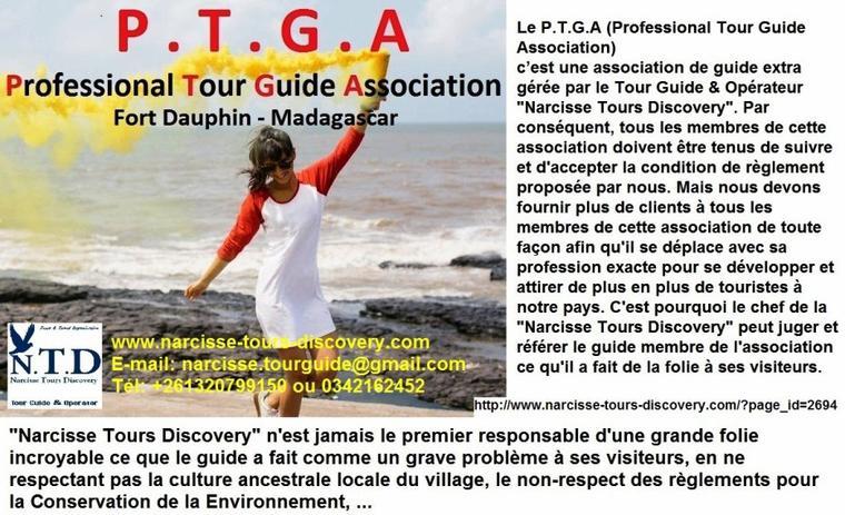 Ecotourisme à Madagascar - PROFESSIONAL TOUR GUIDE ASSOCIATION  Fort Dauphin