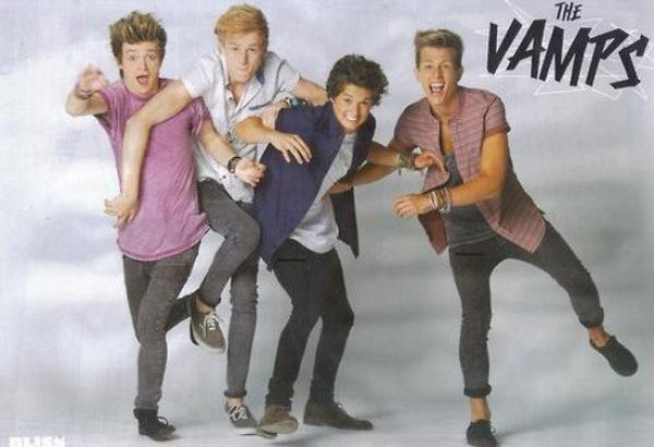 The Vamps dans le magazine BLISS de Septembre 2013