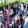 vendredi 27 mars 2009 /Blocus de l'école élémentaire et maternelle Alsace