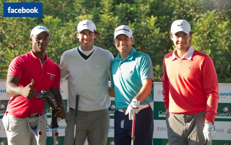 """19/10/11: """" Profitant d'une journée de golf, avec mon ami Sergio Garcia au Castellon's pro ."""""""