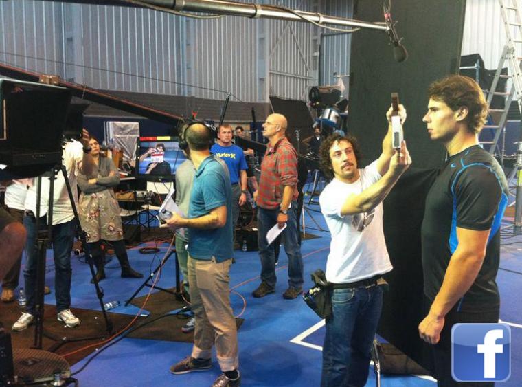"""08.11.11 : """"Salut à tous. Après l'entraînement avec Teimurez, shooting pour Nike ! """""""