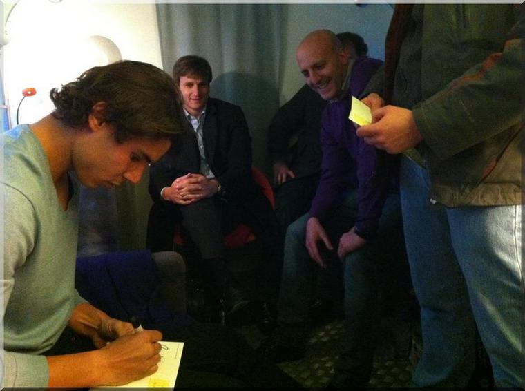 """18.02.12 : """"Cette semaine je me suis entraîné avec Frederico Silva et son entraîneur Pedro Felner ... Obrigado !!!"""""""