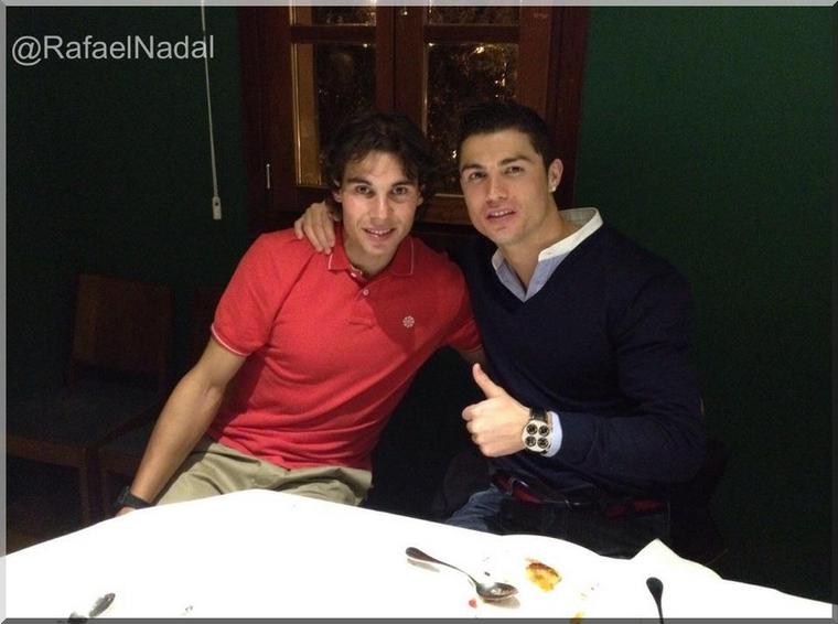 """22.02.12 : """" Dîner avec Cristiano après avoir filmé la dernière publicité pour Nike. Une super journée ! """""""