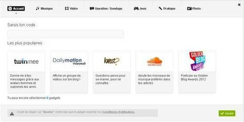 Skyrock propose le widget des Golden Blog Awards 2012 !