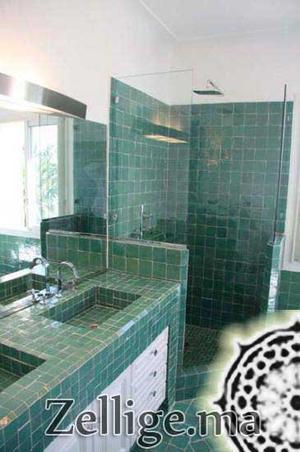 revtement mur salle de bain en zellige mosaque - Zellige Marocain Salle De Bain