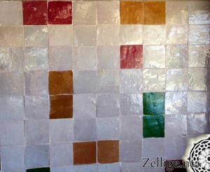 revtement murs salle de bain un magnifique mlange en zellige - Zellige Marocain Salle De Bain