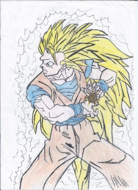 Dragon Ball Coloriage Dragon Ball Z Sangoku Super Sayen 4