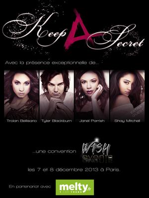 Convention de Pretty Little Liars à Paris le 7 et 8 Décembre 2013