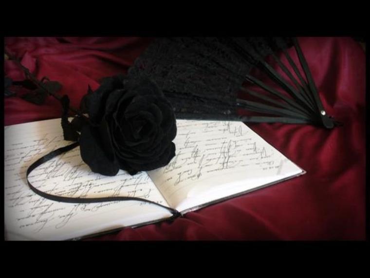 a black rose  *.*