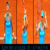 Elena en 1/2 à Roland Garros