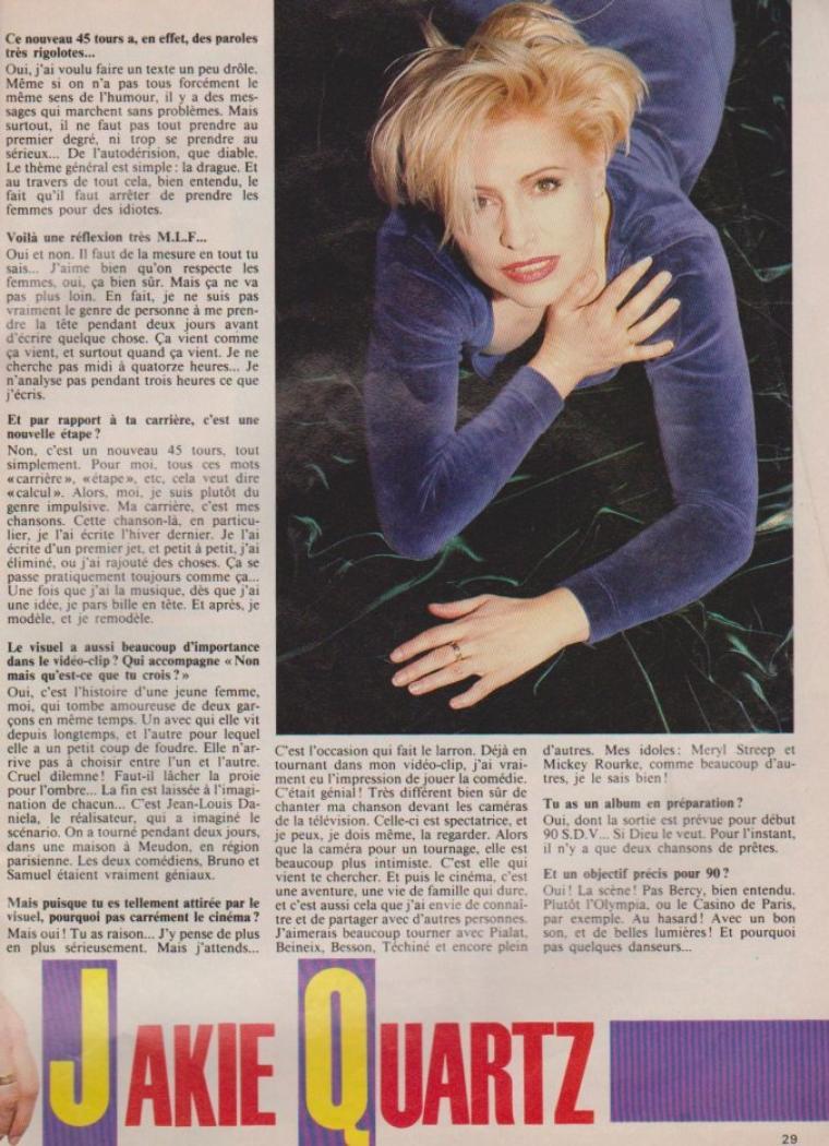Articles Jakie Quartz - 1989