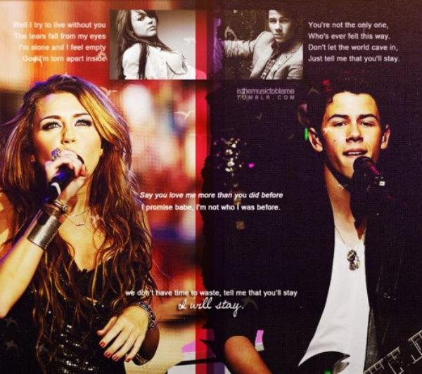 Stay means Niley.