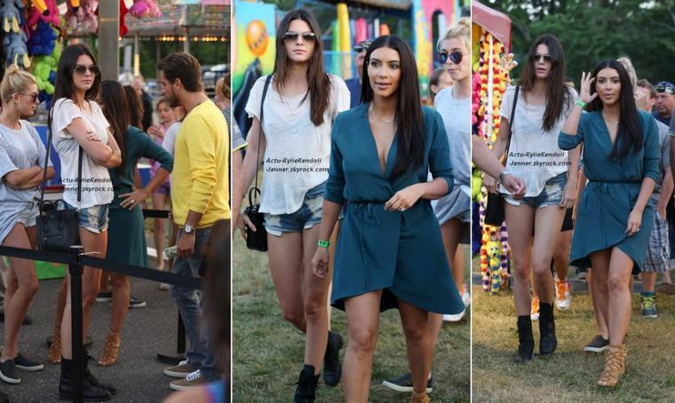 Kendall était dans une fête foraine avec sa famille et son amie Hailey, dans les Hamptons, le 1 juillet 2014.