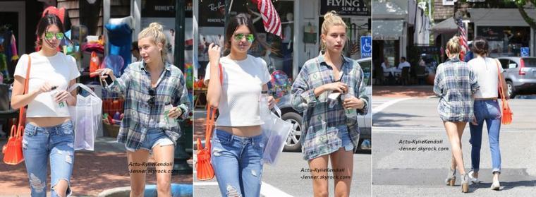 Kendall faisait du shopping avec son amie Hailey Baldwin,  à New York, le 3 juillet 2014 + Kendall était avec Hailey, dans les Hamptons, le 2 juillet 2014.
