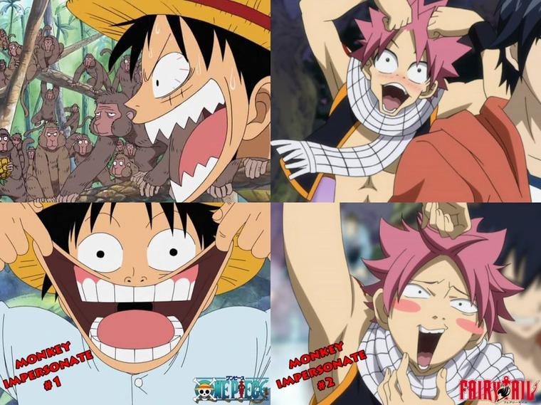 Luffy et Natsu