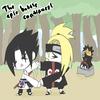 Sasuke(moi) et deidara et tobi