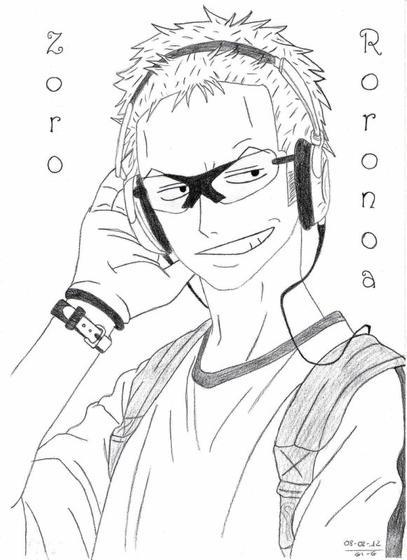 Dessin roronoa zoro dessins manga d 39 azuki - Zoro one piece dessin ...