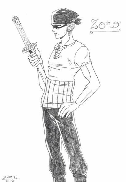 Dessin Zoro Roronoa Dessins Manga D Azuki