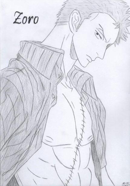 Dessin zoro x dessins manga d 39 azuki - Zoro one piece dessin ...