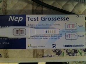 Le test de grossesse et la première écographie