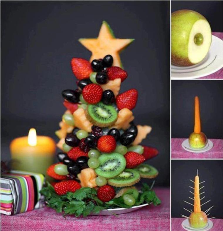sapin de noel aux fruits