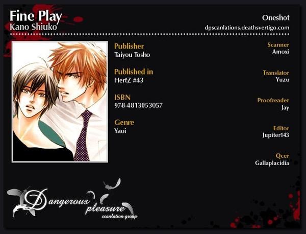Scan yaoi :Fine Play