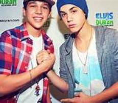 Austin Mahome and Justin Bieber