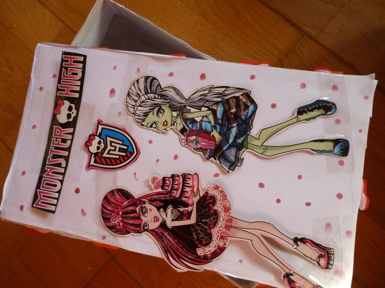 Comment fair une jolie boite monster high monster high52 - Comment faire une chambre monster high ...