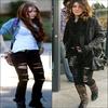 . Mais à qui va le mieux le pantalon ?  Miley Cyrus ou Shenae Grimes..  ).