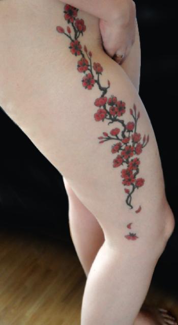 Fleur Cerisier Tattoo Tatouage Bracelet Fleur De Cerisier With
