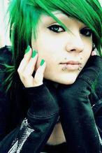 Les cheveux bleu-vert, turquoise (2)