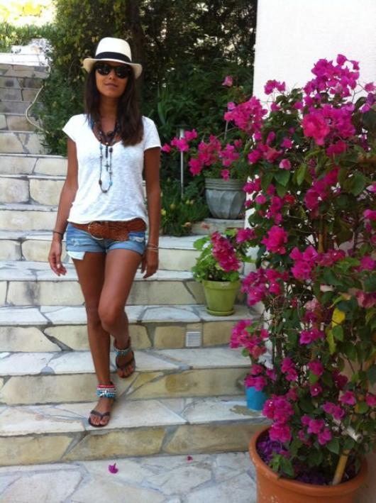 Karine Ferri en vacances