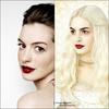Même teint cadavrique, même rouge a lèvre, il n'y a pas a dire, Anne Hathaway est une vraie professionnelle !