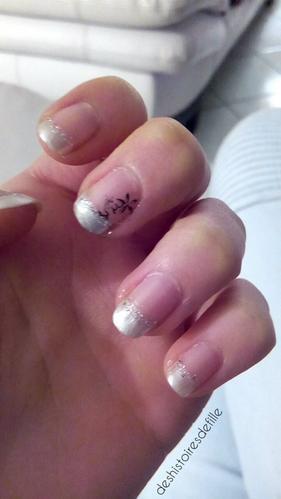 """[TUTO n°1] Nail art  """"paillette givrée"""""""