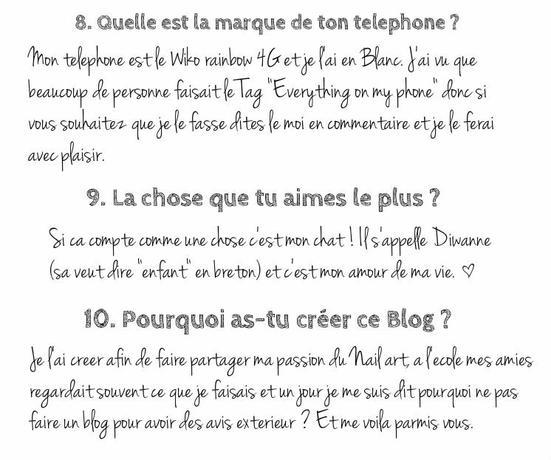 [Tag n°2] 10 choses sur moi