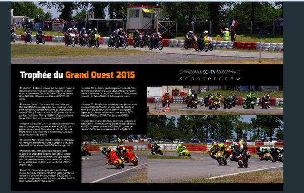 Beau Reportage sur l'épreuve du Trophée Grand Ouest au Circuit de Corcoué sur Logne du 7 Juin 2015