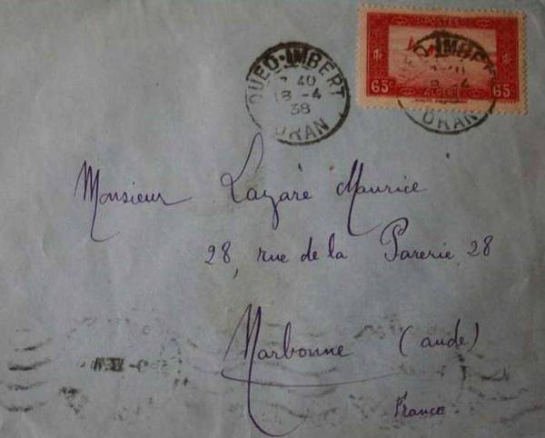 OUED IMBERT : Carte postale