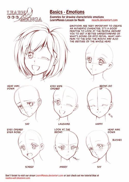 pour irisshetland quelques images pour apprendre dessiner en manga