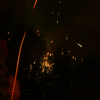 Fée Nom :  Vue sur un feu d'artifices Thème : Artistique Appareil : Sony Reflex A200W  Lieu & Date : 14 Juillet 2010, vue de ma fenêtre Fée