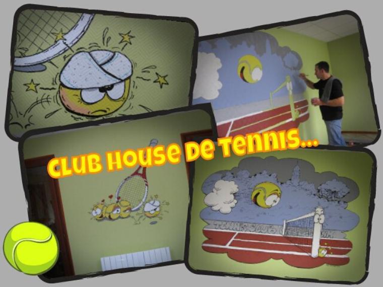 Fresques humoristiques...chambres d'enfants, clubs house, commerces etc...