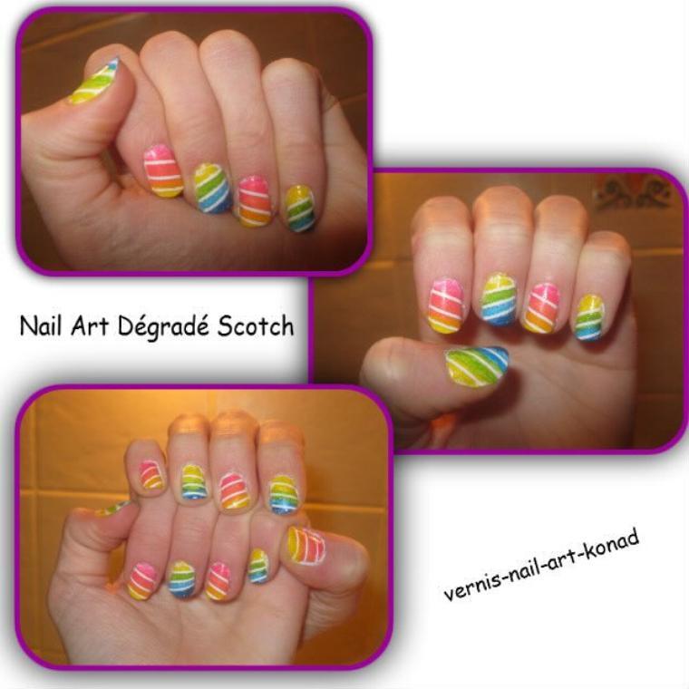 Nail Art Dégradé Scotch