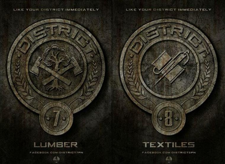 Affiches des 12 Districts d'Hunger Games