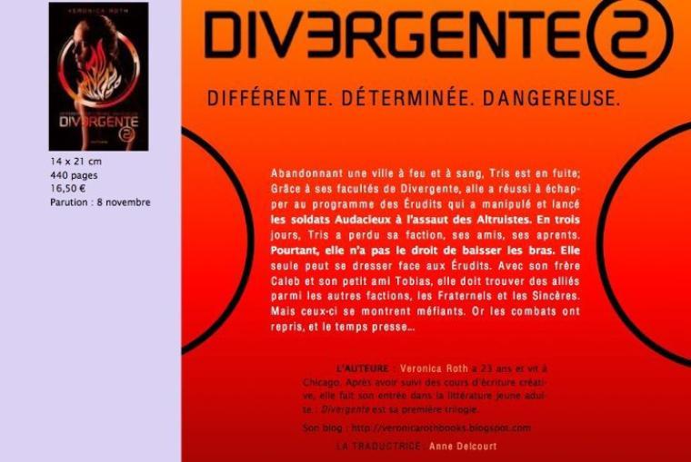 Présentation française : Divergente Tome 2 - Les Insurgés