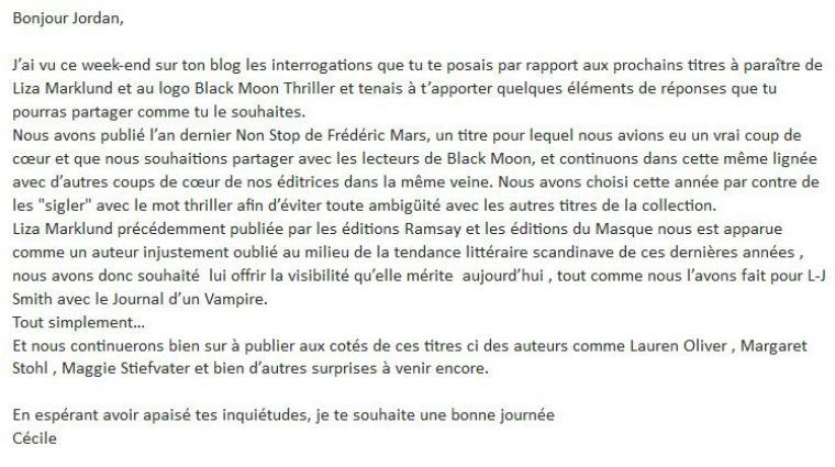 Black Moon Thriller : quelques infos !